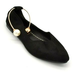 Womans Black Suede Ballet Flat EUR 38 New